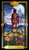 Picture of Eight of Cups from Easy Tarot kit