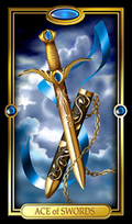 Picture of Ace of Swords card from Easy Tarot kit
