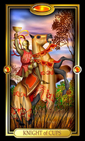 Picture of Knight of Cups card from Easy Tarot kit