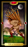 Picture of Ten of Wands from Easy Tarot