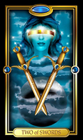 Picture of Two of Swords card from Easy Tarot kit