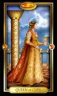 Picture of Queen of Cups card from Easy Tarot
