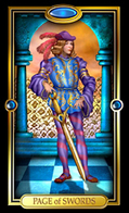Picture of Page of Swords card from Easy Tarot kit