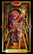 Picture of Seven of Wands from Easy Tarot