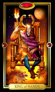 Picture of King of Wands from Easy Tarot