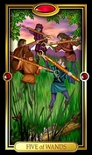 Picture of Five of Wands from Easy Tarot