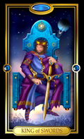 Picture of King of Swords card from Easy Tarot kit