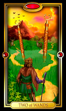 Picture of Two of Wands from Easy Tarot