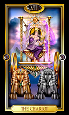 Picture of The Chariot card from Easy Tarot