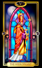 Picture of The Hierophant card from Easy Tarot