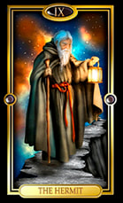 Picture of The Hermit card from the Easy Tarot kit