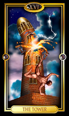 Picture of The Tower from Easy Tarot kit