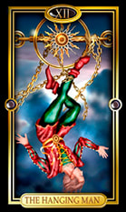 Picture of The Hanging Man from Easy Tarot