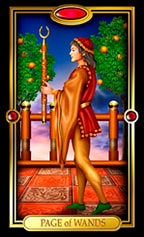 Picture of Page of Wands from Easy Tarot