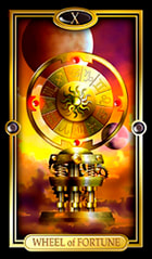 Picture of the Wheel of Fortune from the Easy Tarot kit