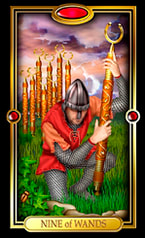 Picture of Nine of Wands from Easy Tarot