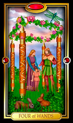 Four of Wands Tarot Card Meanings and Combinations | Learn