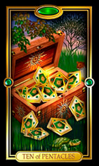Ten of Pentacles Tarot Card Meanings and Combinations